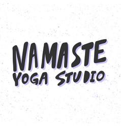 Namaste yoga studio sticker for social media vector