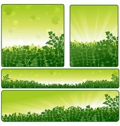 Nature Banner Set vector