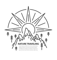 nature line template vector image