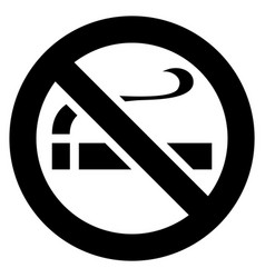 No smoking black sign vector