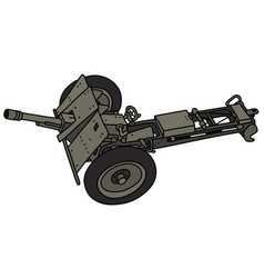Old field cannon vector