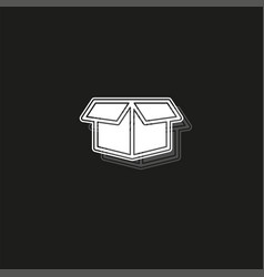 Packaging concept line icon simple element vector