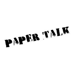 Paper talk rubber stamp vector