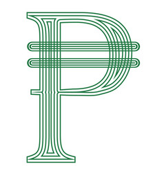 Peso philippines colombia currency symbol vector
