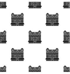 Queen victoria building icon in black style vector
