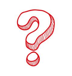 question mark symbol vector image