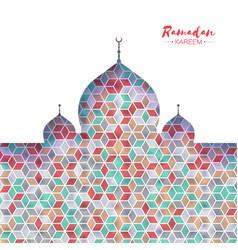 ramadan kareem orange ornamental arabic pattern vector image