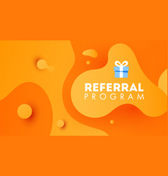 referal design promotion gradient shapes vector image