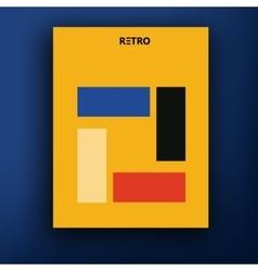 retro bauhaus de stijl brochure booklet vector image