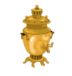 russian samovar isolated on a white background vector image