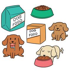 set of dog food vector image