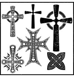 Set of six cross vector