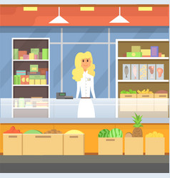 Shopping in a mall cartoon peopple vector