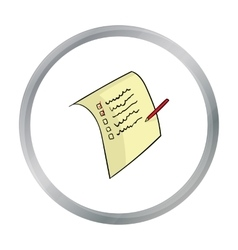 Shopping list icon in cartoon style isolated on vector