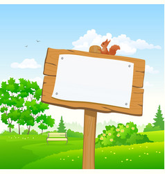 signboard in a park vector image