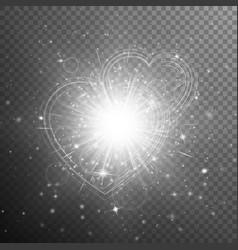 Silver hearts bokeh vector