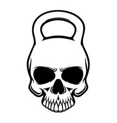 skull in form a kettlebell design element vector image