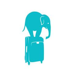 Smart travel logo template vector