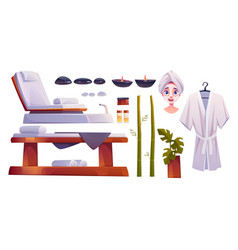 spa salon supplies isolated on white background vector image