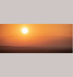 summer sunset in orange colors blurred vector image