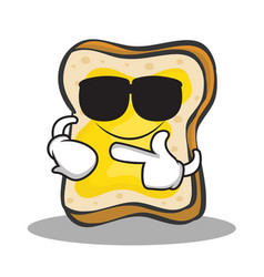 Super cool bread character cartoon vector