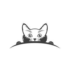 the vintage logotype a cat vector image