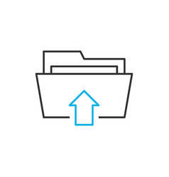 upload line icon vector image