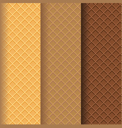 Wafer texture pattern background vector