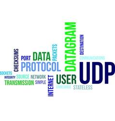 Word cloud udp vector