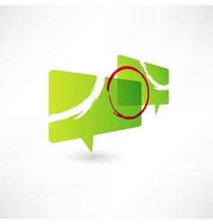 Bubbles icon vector image vector image