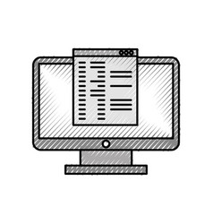 computer desktop with template vector image vector image