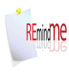 reminder with message vector image