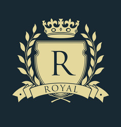Royal coat of arms heraldic royal emblem shield vector