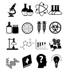 Science education icons set vector image vector image