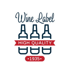 wine high quality label 1935 design element for vector image