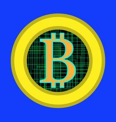 bitcoin flat design vector image