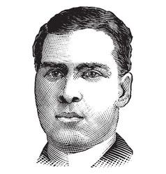 jack burke vintage vector image vector image