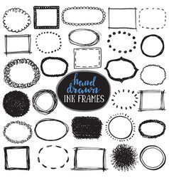 set of sketch drawn frames vector image