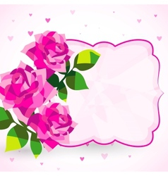 Decorative background or card with roses vector image vector image