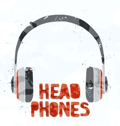 Headphones from multi-colored spots vector image