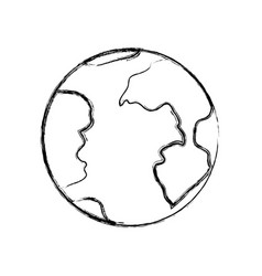 monochrome blurred silhouette of earth globe icon vector image vector image
