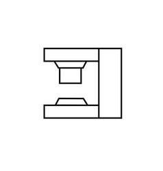 press machine icon vector image