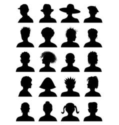 20 anonymous mugshots vector image vector image