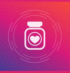 Bottle of pills icon pictogram vector