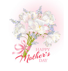 mothers day card pink vector image
