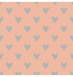 Tile pattern with grey hearts on pink background vector image vector image