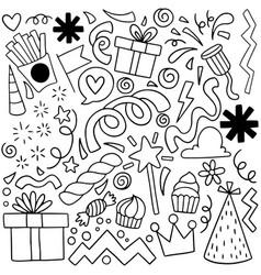 04-08-032 hand drawn party doodle happy birthday vector