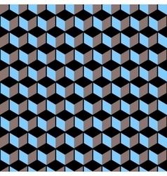 3d cubes - seamless pattern vector