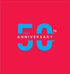 50 year anniversary template design 4 vector