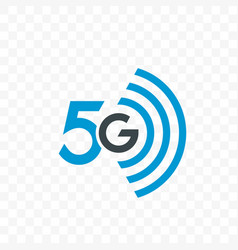 5g internet network logo icon vector image